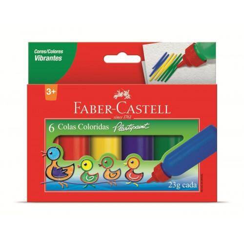 Cola colorida 23g c/6 cores HT170106 Faber Castell