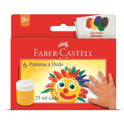 Pintura a dedo 25ml c/6 cores HT160006 Faber Castell