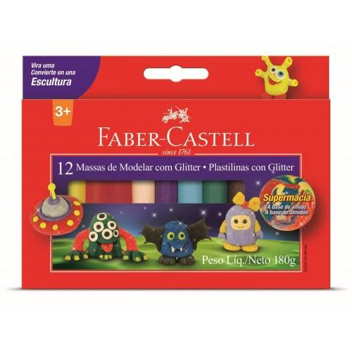Massa de Modelar 180g Amido Com Glitter Faber Castell