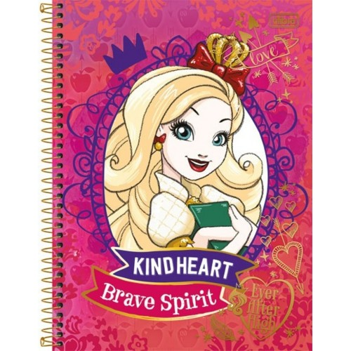 CADERNO UNIV. C.D 96FLS EVER AFTER HIGH TILIBRA