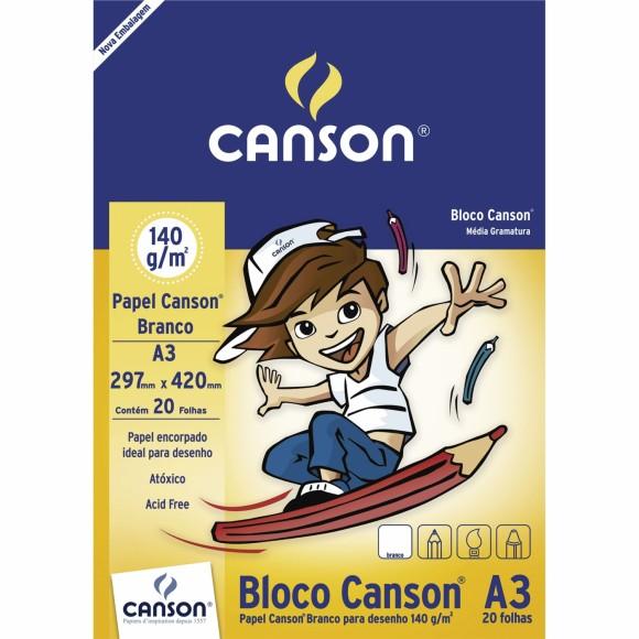 BLOCO A3 140GR DESENHO CANSON BRANCO REF-66667071