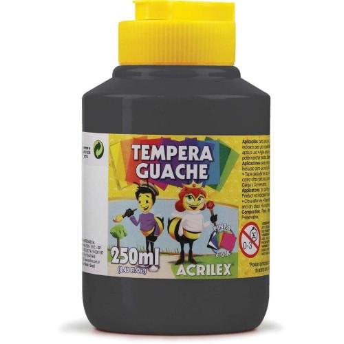 TINTA GUACHE 250ML PRETO REF.520 ACRILEX