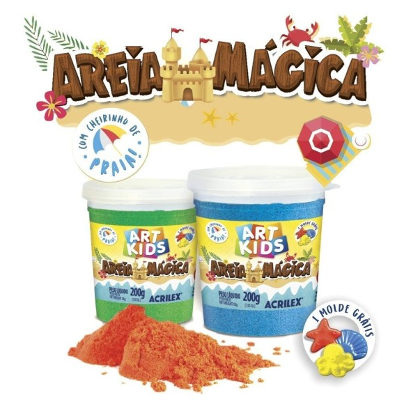 AREIA MAGICA ACRILEX ART KIDS