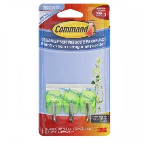 Gancho Command Utensílios Transparente Verde