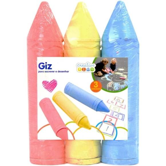 GIZ  P/CALÇADA 3 CORES CRIATIVE KIDS