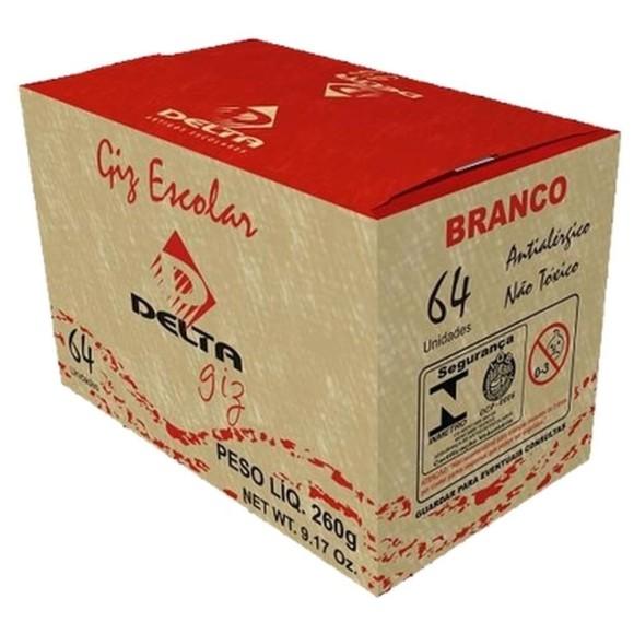 GIZ ESCOLAR BRANCO DELTA C/64 - UN