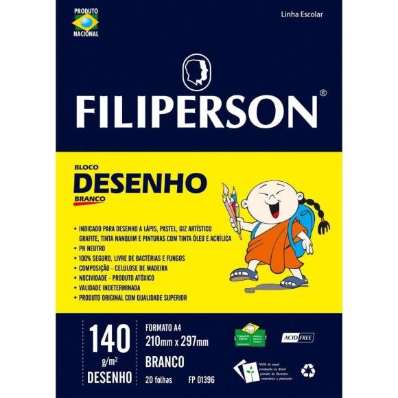 BLOCO DE DESENHO A4 140G 20FLS BCO FILIPERSON
