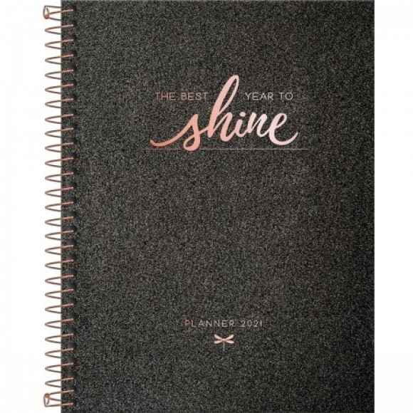 PLANNER ESPIRAL CAMBRIDGE SHINE 2021 TILIBRA