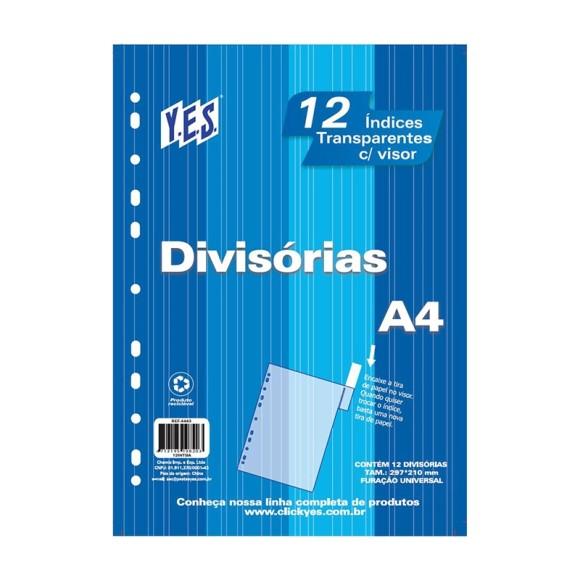 DIVISÓRIA C/12 A4 TP C/VISOR YES CR