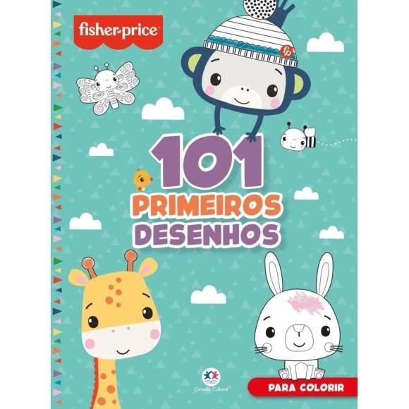 LIVRO INFANTIL COLORIR 101 DESENHOS - FISHER PRICE
