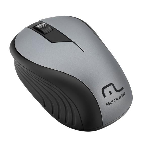 MOUSE MULTILASER SEM FIO 2.4GHZ GRAFITE USB - MO213