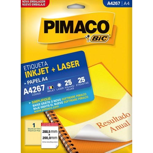 ETIQUETA INKJET + LASER A4267 PIMACO