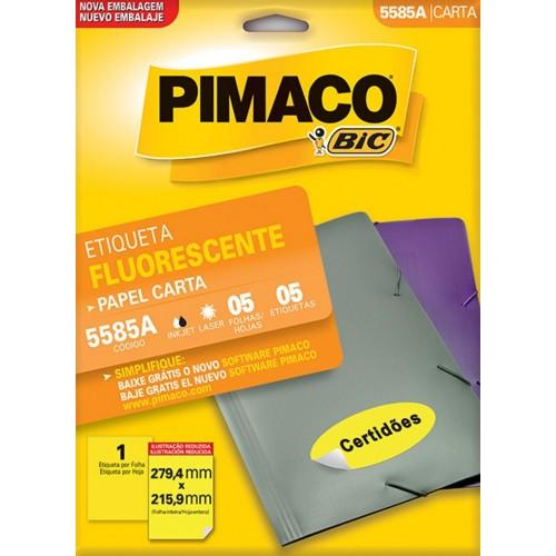 ETIQUETA INKJET + LASER FLUORESCENTE  5585A PIMACO